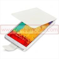 """Bolsa / Capa Flip Cover Pele Sintetica  """"Fina"""" Para SAMSUNG GALAXY NOTE 3 III N9000 N9002 N9005 Branca"""