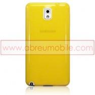 Capa Silicone Gel Para SAMSUNG GALAXY NOTE 3 III N9000 N9002 N9005 Amarela Transparente