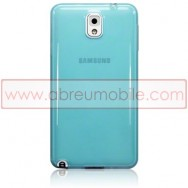 Capa Silicone Gel Para SAMSUNG GALAXY NOTE 3 III N9000 N9002 N9005 Azul Transparente