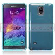 Capa Silicone Gel Para SAMSUNG GALAXY NOTE 4 N910 Azul Transparente
