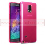 Capa Silicone Gel Para SAMSUNG GALAXY NOTE 4 N910 Rosa Transparente