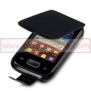 Bolsa / Capa Pele Sintetica Flip Cover Para SAMSUNG GALAXY POCKET S5300 Preta