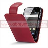 Bolsa / Capa Pele Sintetica Flip Cover Para SAMSUNG GALAXY ACE S5830 s5839i Vermelha