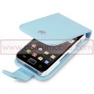 Bolsa / Capa Pele Sintetica Flip Cover Para SAMSUNG GALAXY ACE S5830 s5839i Azul