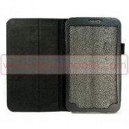 Bolsa / Capa Pele Sintetica2 c/ Função Cavalete Para SAMSUNG GALAXY TAB3 8.0 T3100 / T3110 Preta