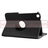 Bolsa / Capa Flip Cover c/ Suporte Rotativo e Cavalete Para SAMSUNG GALAXY TAB3 8.0 T3100 / T3110 Preta