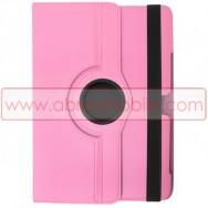Bolsa / Capa Flip Cover c/ Suporte Rotativo e Cavalete Para SAMSUNG GALAXY TAB3 8.0 T3100 / T3110 Rosa