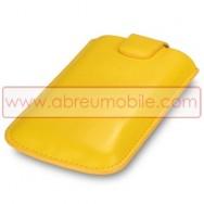 Bolsa / Capa Pele Sintetica Para HTC WILDFIRE S Amarela