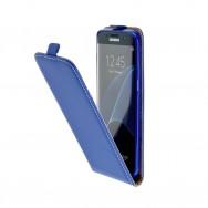 """Bolsa / Capa Pele Sintetica Flip Cover c/ Suporte em Gel Para SAMSUNG GALAXY S8+ PLUS (6.2"""") Azul"""