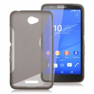 Capa Silicone Gel S-Design Para SAMSUNG GALAXY YOUNG S6310 S6312 Cinza Transparente
