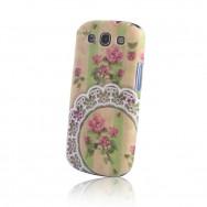 "Capa Silicone Gel Estampada ""Floral"" v31 Para Samsung Galaxy S4 IV I9500"