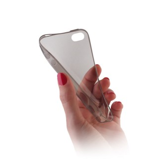 Capa Silicone Gel Ultra Fina Para ALCATEL ONE TOUCH POP C3 Cinza Transparente