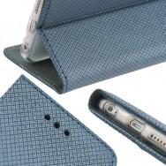 Bolsa / Capa Pele Sintetica Flip Cover Horizontal Fina Texturada c/ Suporte em Gel e Função Cavalete Para SAMSUNG GALAXY J5 SM-J500F Preta