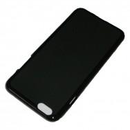 Capa Silicone Gel  v5 Para BQ AQUARIS E5 4G Preta Opaca