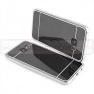 Bolsa / Capa Silicone Gel Espelhada Para SAMSUNG GALAXY S7 (SM-G930) Preta