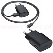 Carregador Rapido USB NOKIA 1300mah + Cabo de Dados MicroUSB
