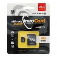 Cartao Memoria MicroSD 32GB IMRO - CLASS 10 UHS-3 (Até 100MB/S)